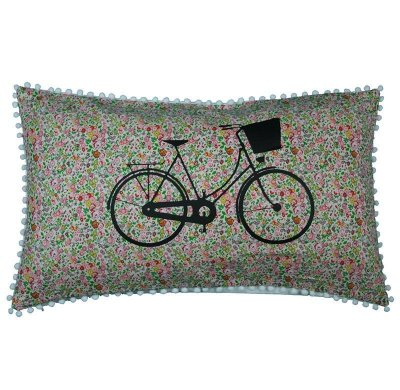 Almofada Bike Florido Rosa 31x50