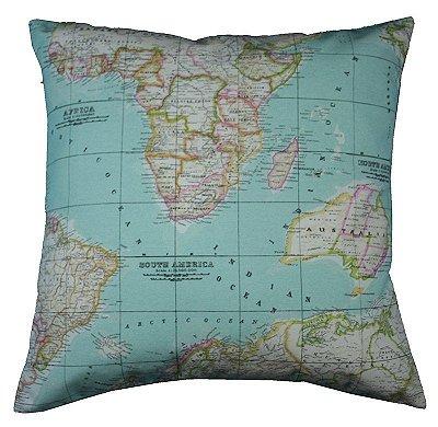 Almofada Mapa Mundi 48x48 cm