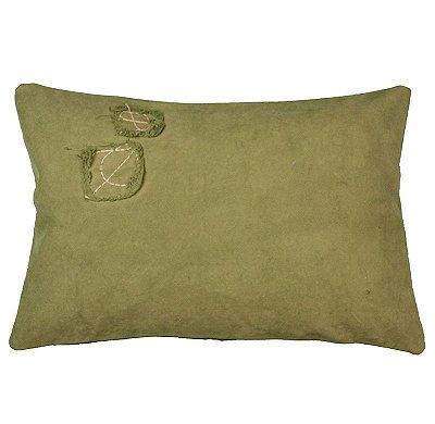 Almofada Lona Verde 31x47