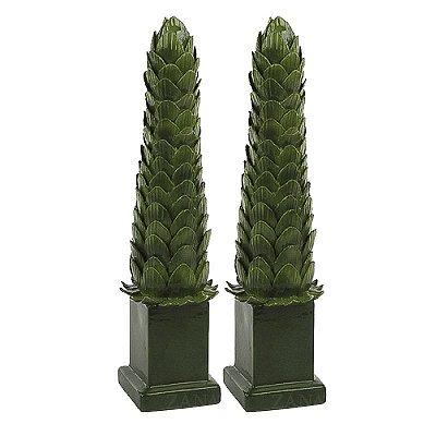 Obelisco Folhas Alcachofra G (Par)