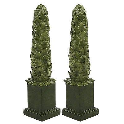 Obelisco Folhas de Alcachofra M Zanatta Casa (par)