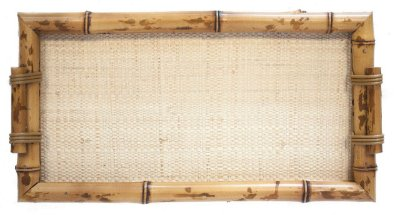 Bandeja Bambu e Palha