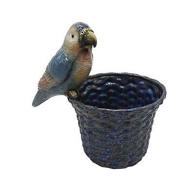 Cachepot Cestaria M com Papagaio