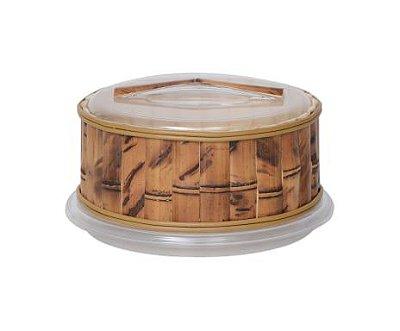 Queijeira de Acrílico e Bambu