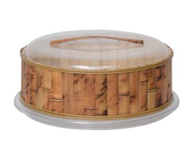 Boleira Acrílico e Bambu