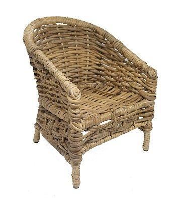 Mini Cadeira Decorativa em Vime