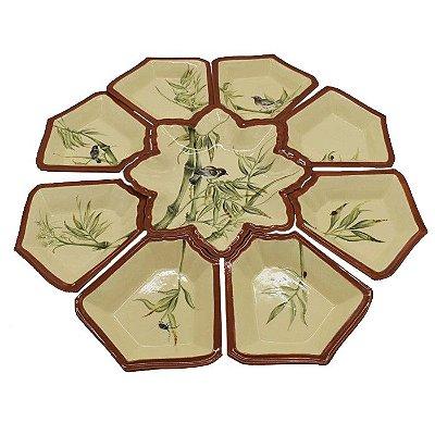 Petisqueira destacável Passarinho em cerâmica Zanatta Casa