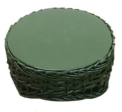 Mini banqueta redonda verde