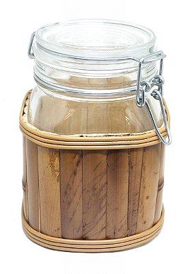 Pote Hermético Revestido Bambu