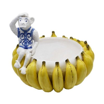 Cachepot Bananas com Macaco Zanatta Casa