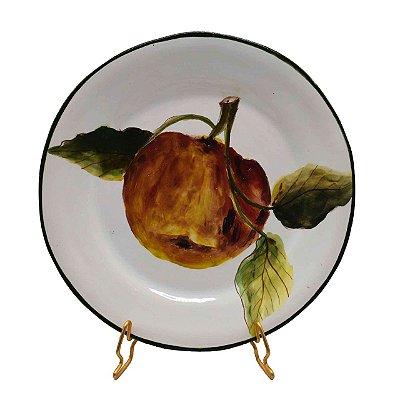 Prato sobremesa Maçã Pintado