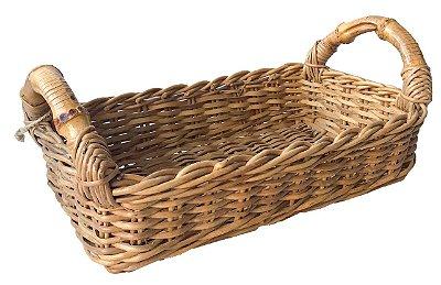 Cesta para Pão em Junco e Bambu 16cm x 28cm