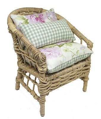 Mini Cadeira Decorativa em Vime Provence