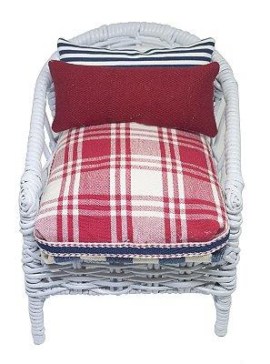 Mini Cadeira Decorativa em Junco branca