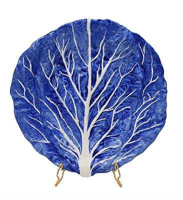 Prato Sobremesa Couve Azul Holândes Zanatta Casa