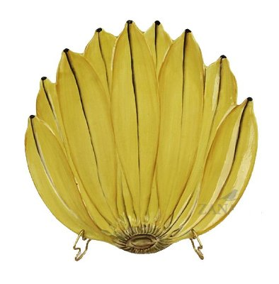 Prato Raso Banana Amarela Zanatta Casa (cj 4)