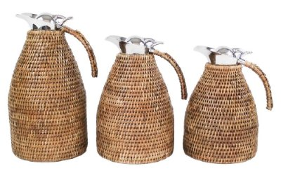 Trio de Garrafas Térmicas Rattan