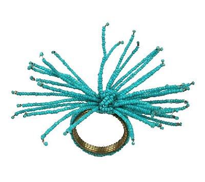 Porta guardanapo coral turquesa (jogo com 4)