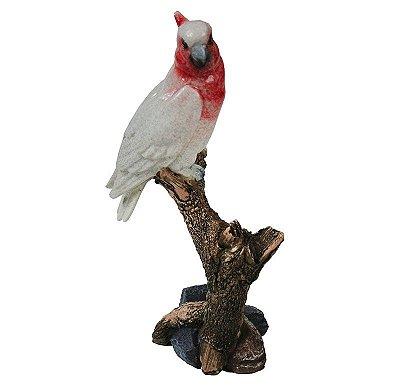 Pássaro cerâmica vermelho