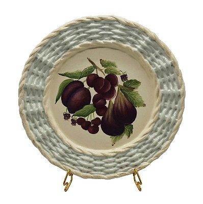 Prato raso borda trançada frutas 1 Zanatta Casa