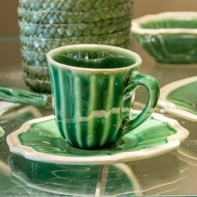 Xícara de café casual verde Zanatta Casa