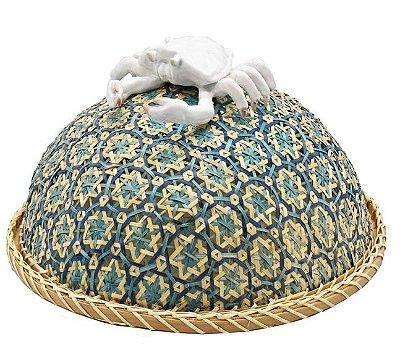 Boleira bambu azul redonda de caranguejo Zanatta Casa