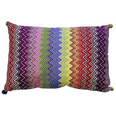 Capa de Almofada zigzag colorida (rim)
