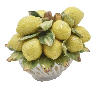Mini cestinha de cerâmica limão siciliano Zanatta Casa