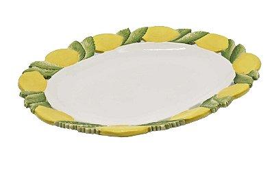 Travessa retangular borda de limão siciliano Zanatta Casa