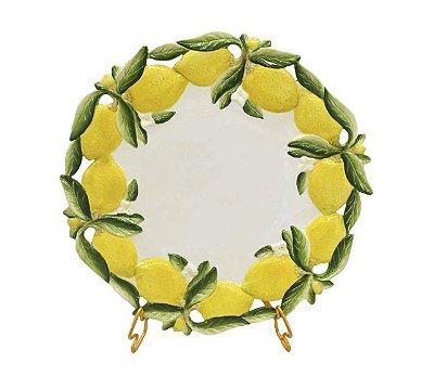 Prato raso borda limão em relevo Zanatta Casa (cj 6)