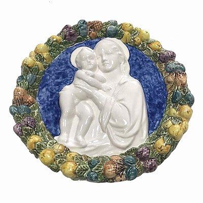 Placa Nossa Senhora com Frutas