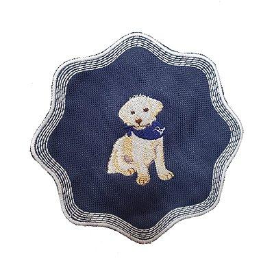 Porta copos azul com cachorro (set com 6)