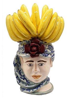 Cabeça Moura Feminina com penca banana Zanatta Casa