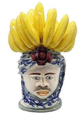Cabeça moura masculina com penca de banana Zanatta Casa