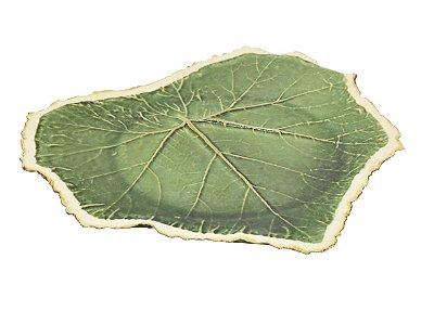 Folha de uva G reta com borda faiança Zanatta Casa
