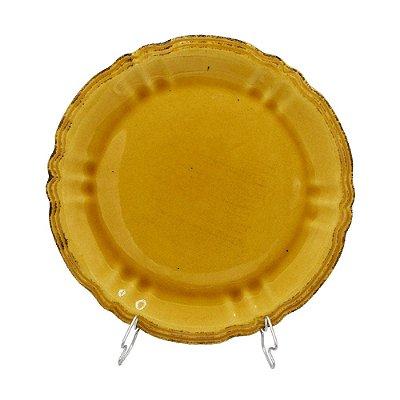 Prato raso amarelo mostarda Zanatta Casa (cj 4)