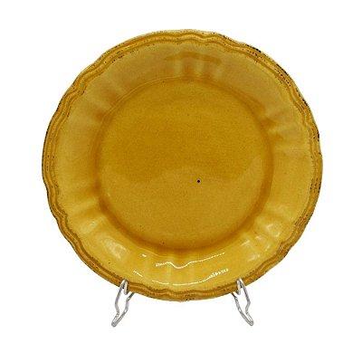 Prato sobremesa amarelo mostarda Zanatta Casa (cj 4)