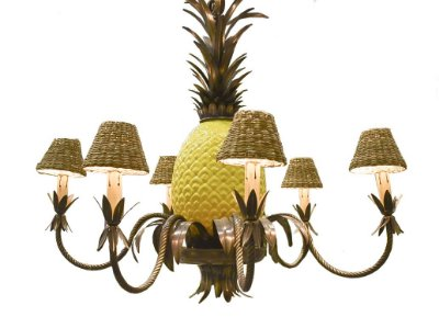 Lustre abacaxi cobre cúpulas taboa