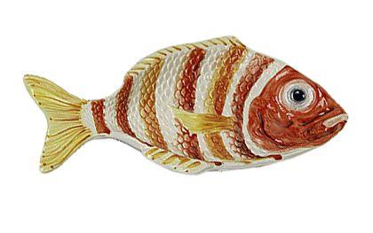 Petisqueira peixe P listras coral Zanatta Casa