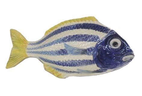 Petisqueira peixe P listras azuis Zanatta Casa