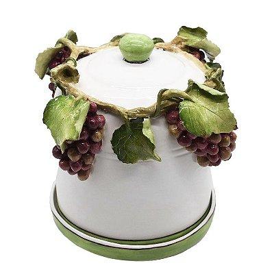 Panetoneira de uvas em cerâmica Zanatta Casa