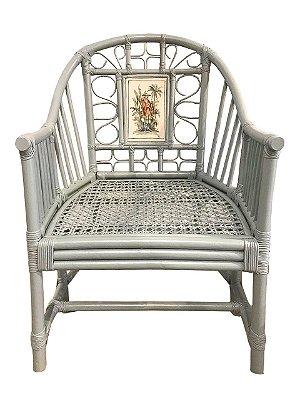 Cadeira chino com aquarela guerreiro
