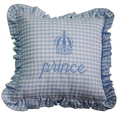 Almofada Prince bordada 25x25cm