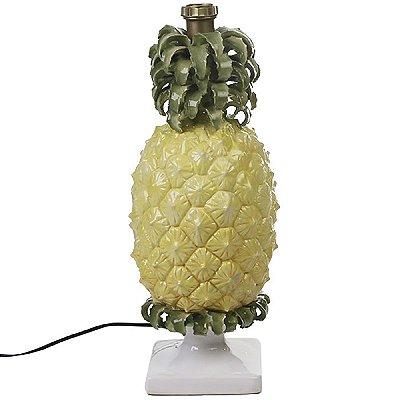 Base de abajur abacaxi com pedestal Zanatta Casa