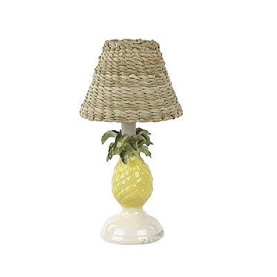 Mini base de abajur abacaxi com pedestal de cerâmica Zanatta Casa