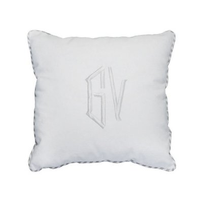 Capa de Almofada Monograma bordado 2 letras 37x37 cm