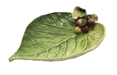 Mini folha de cerâmica com cacho de uva 4 Zanatta Casa