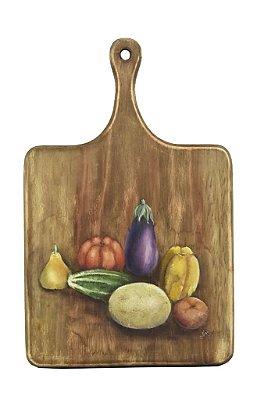 Tábua madeira pintura frutas e legumes