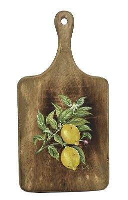 Tábua madeira pintura limão siciliano