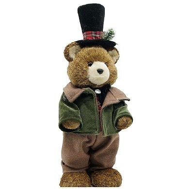Ursinho de Natal com casaco verde